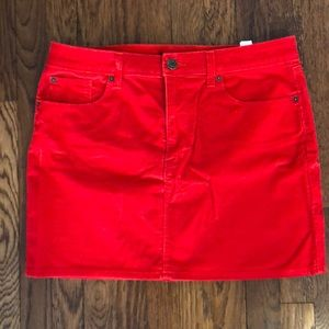 Gap corduroy orange skirt